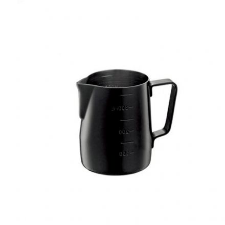 Sale Tiamo Graduated Teflon Milk Pitcher 360ml -Black